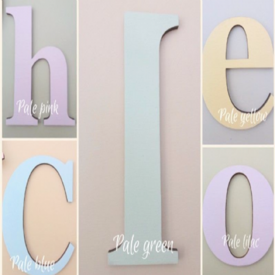 Wooden Giant Letters In Pastel Chalk Paints